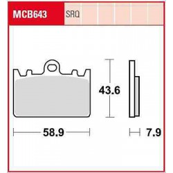 SET PLACUTE MOTO MCB643