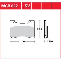 SET PLACUTE MOTO MCB622
