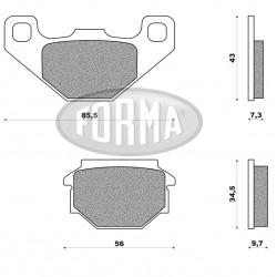 PLACUTE FRANA FORMA DP02121
