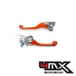 Set manete foldabile ambreiaj/frana KTM EXC/EXC-F/XC/XC-F 250/300/350/400 '06-'14 4MX-MAN08-OR