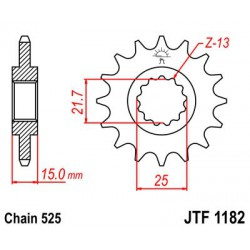 Pinion fata Triumph Daytona 600, 650, Speed Four 600, TT 600 (JTF1182-14) 7260250